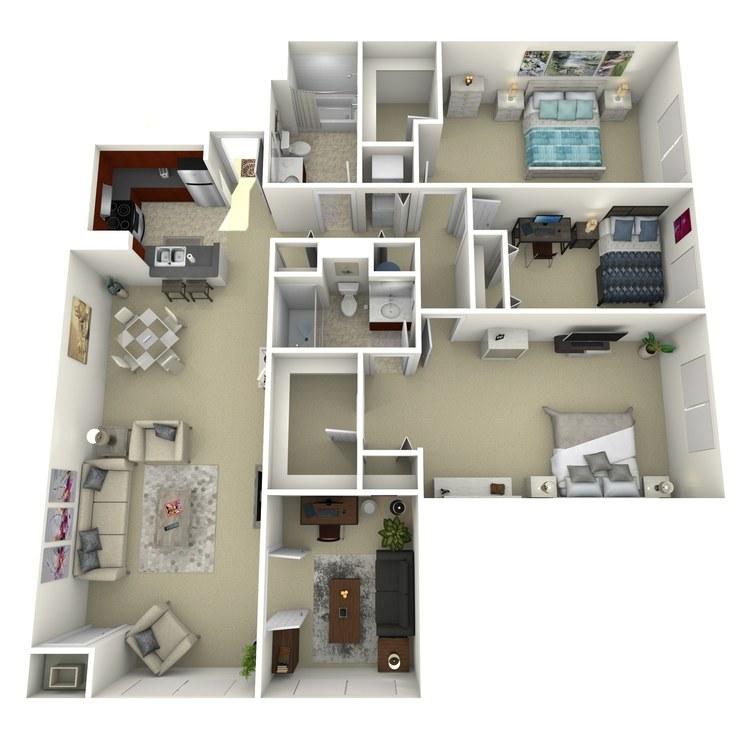 Floor plan image of Building 3-3A