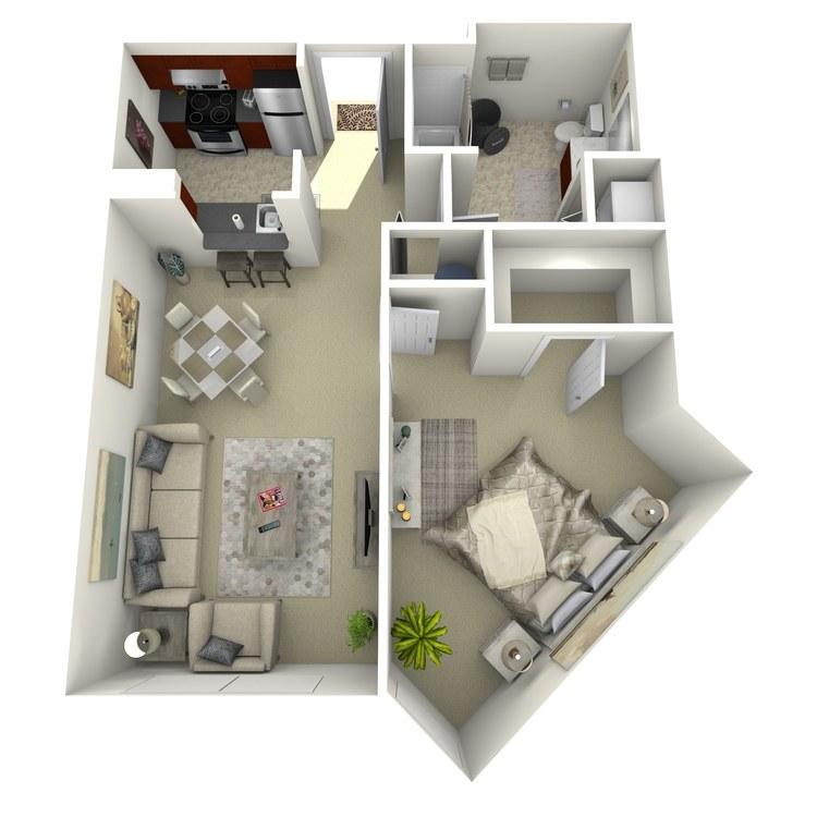Floor plan image of Building 1-1D