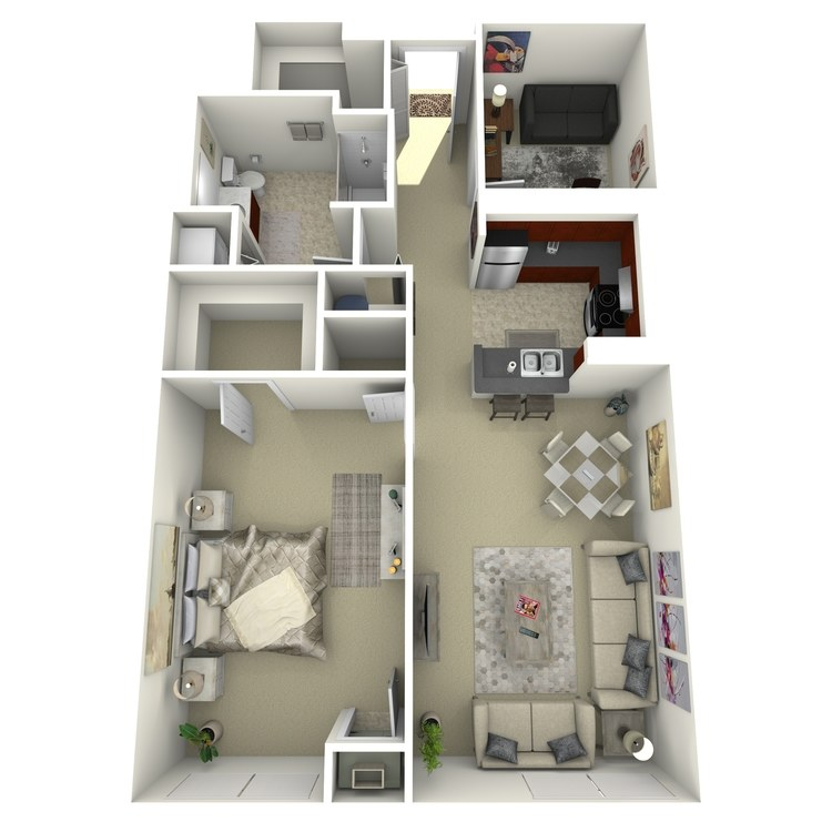 Floor plan image of Building 2-1B