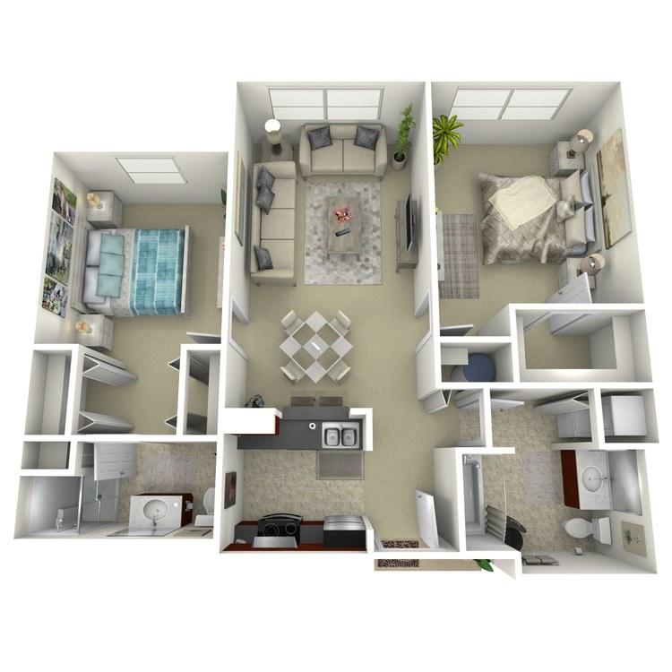 Floor plan image of Building 1-2B