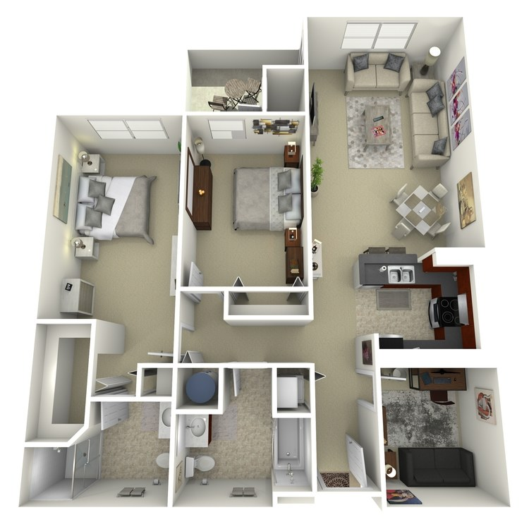 Floor plan image of Building 2-2A