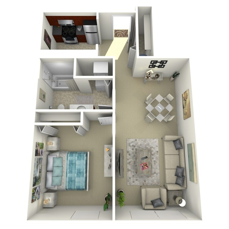 Floor plan image of Building 1-1E