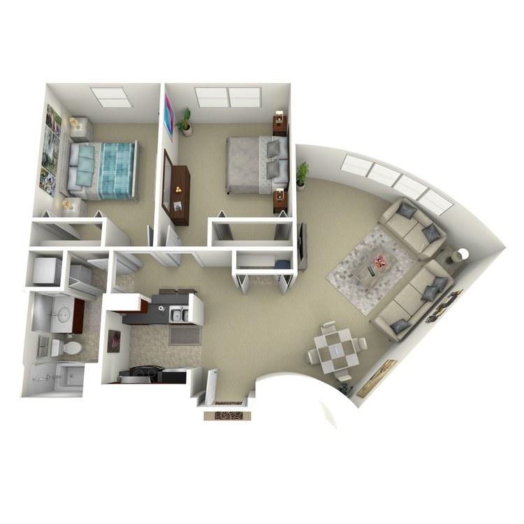 Floor plan image of Building 1-2A