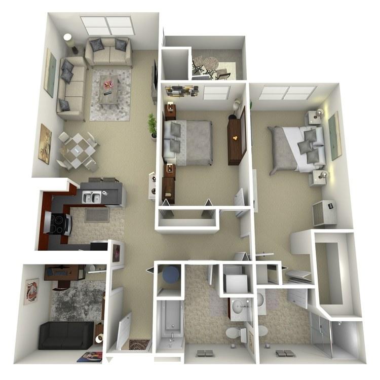 Floor plan image of Building 3-2A