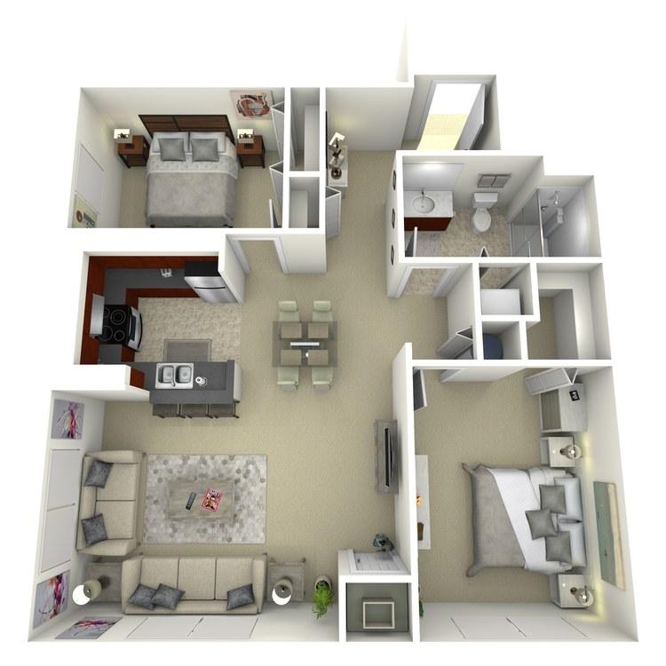 Floor plan image of Building 2-2F