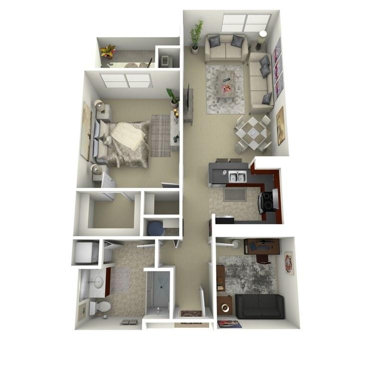 Floor plan image of Building 2-1A
