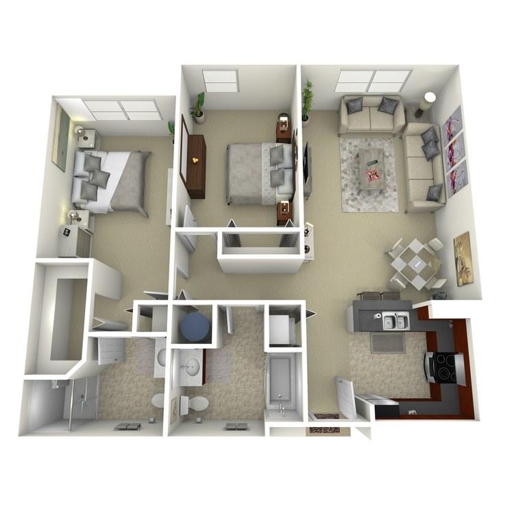 Floor plan image of Building 3-2E