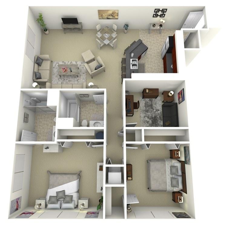 Floor plan image of Building 3-2C