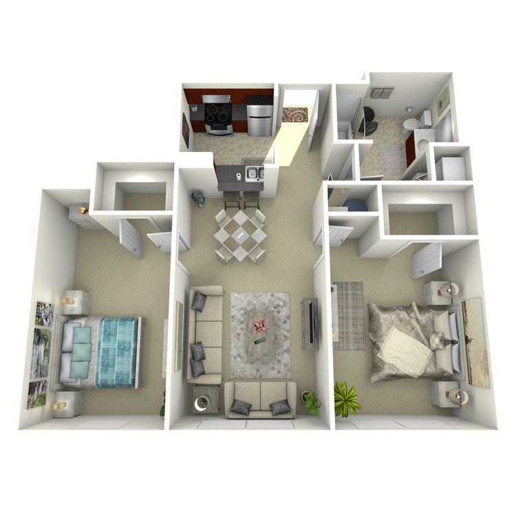 Floor plan image of Building 1-2M