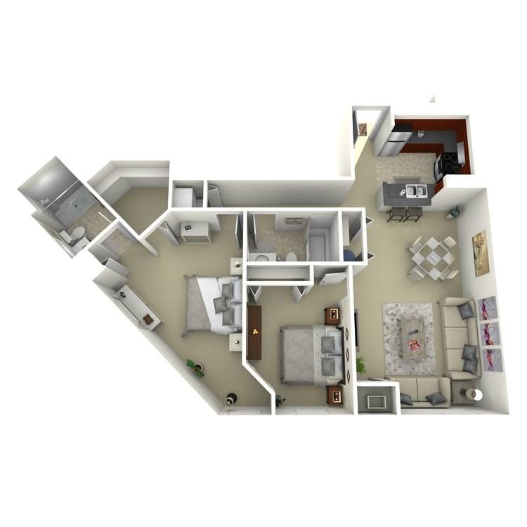 Floor plan image of Building 3-2H