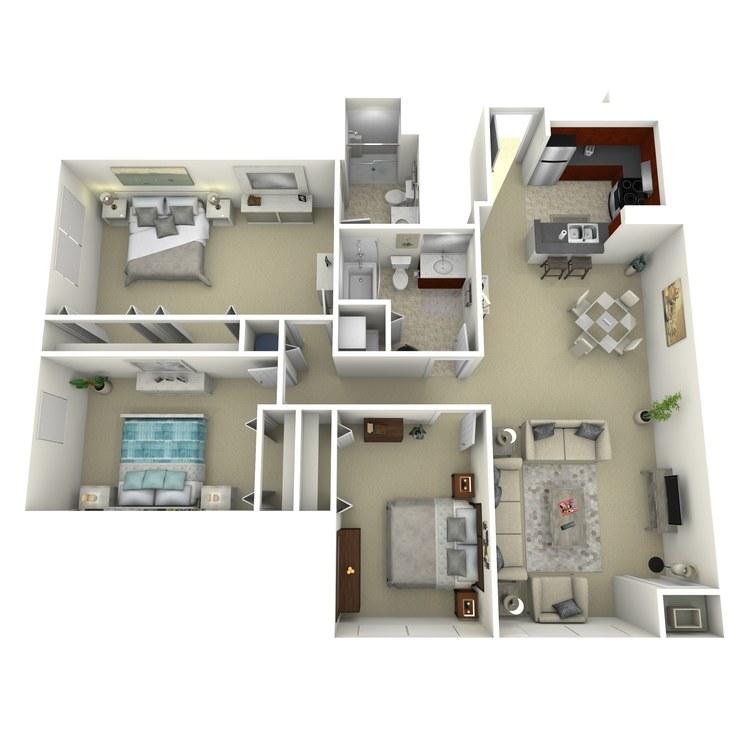 Floor plan image of Building 3-3C