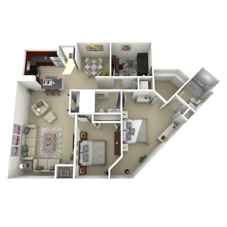 Floor plan image of Building 2-2I