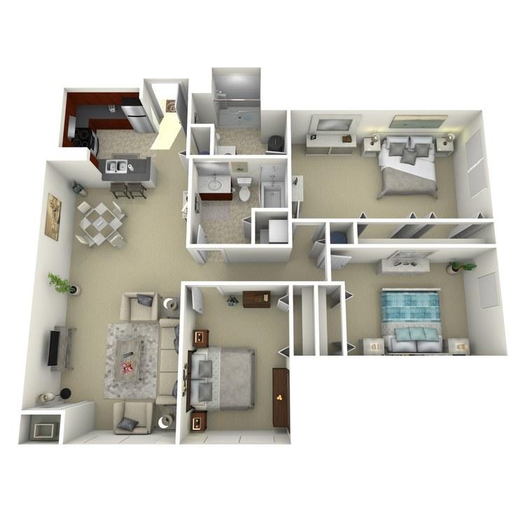 Floor plan image of Building 3-3B