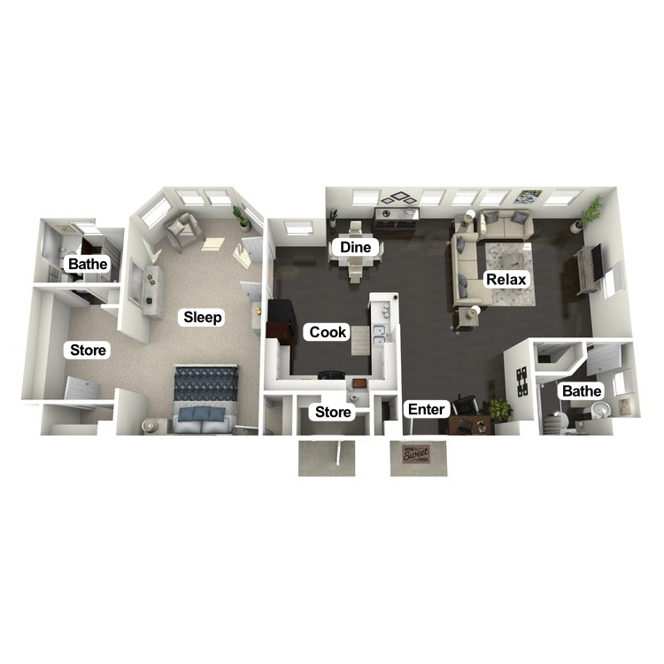Floor plan image of Kenneth Suite