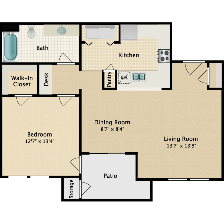 Floor plan image of Flat I