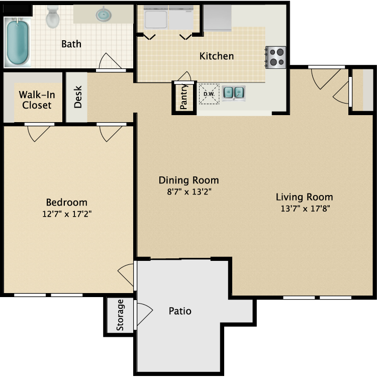 Floor plan image of Flat II