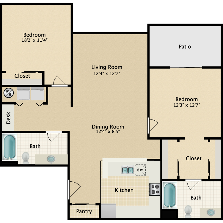 Floor plan image of Flat III