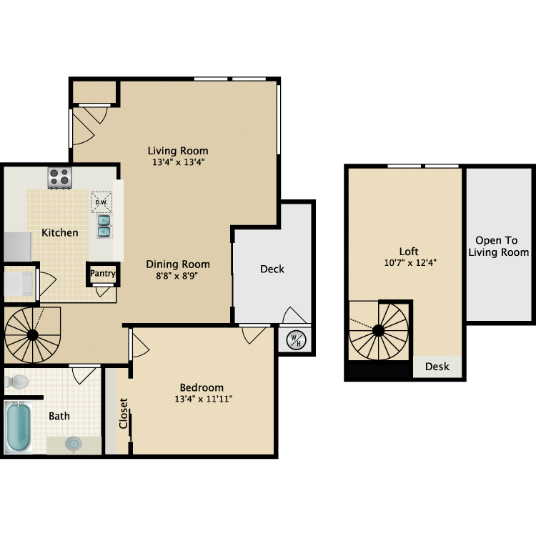 Floor plan image of Loft I