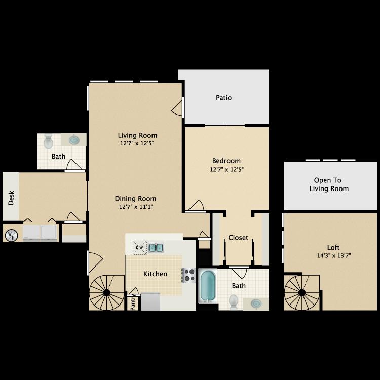 Floor plan image of Loft II