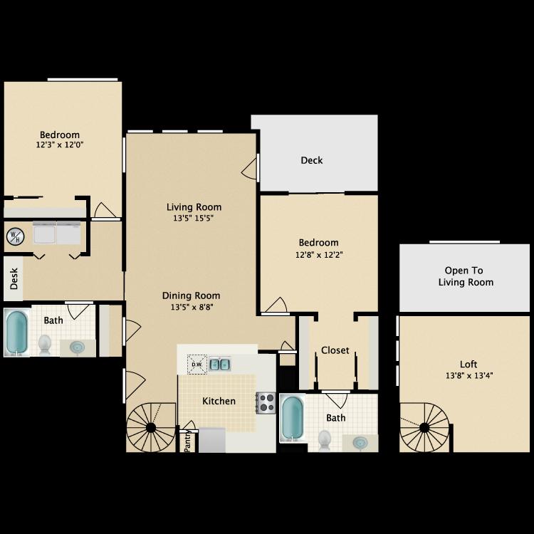 Floor plan image of Loft III