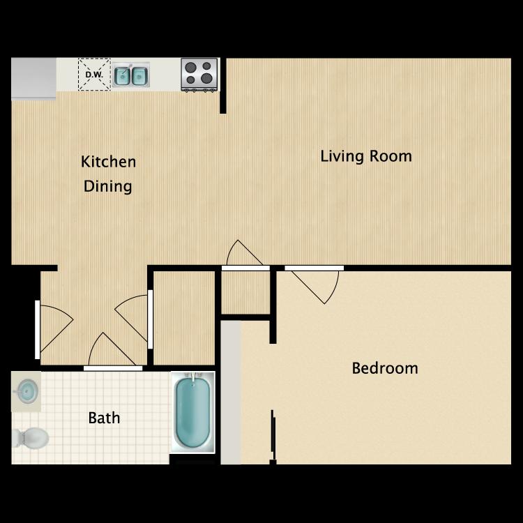 Floor plan image of Unit A