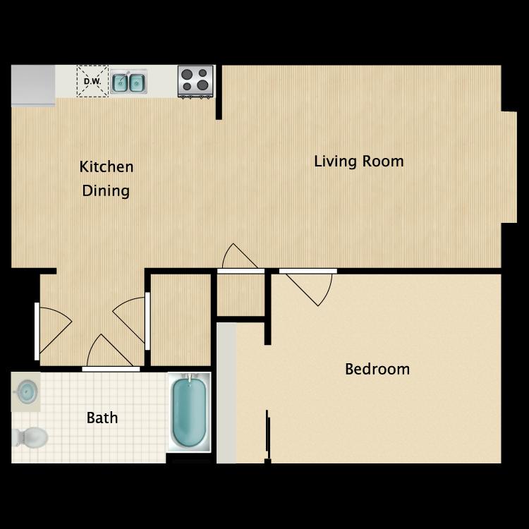 Floor plan image of Unit A-End Unit