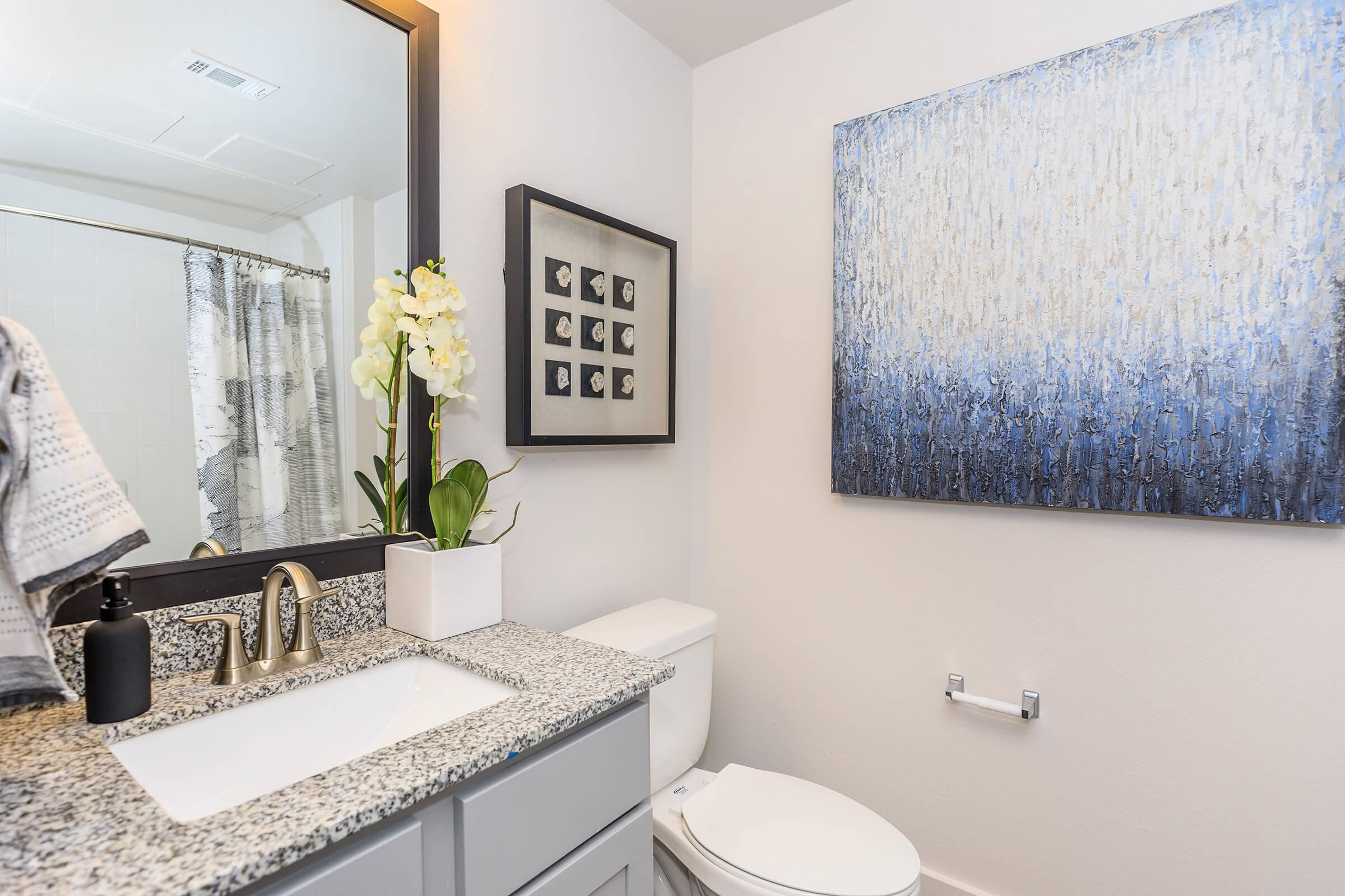 EXTRA SPACE IN MODERN BATHROOM
