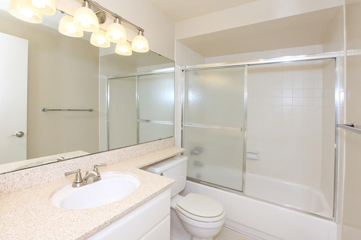 Sleek bathrooms at Casa Hermosa in San Diego, California