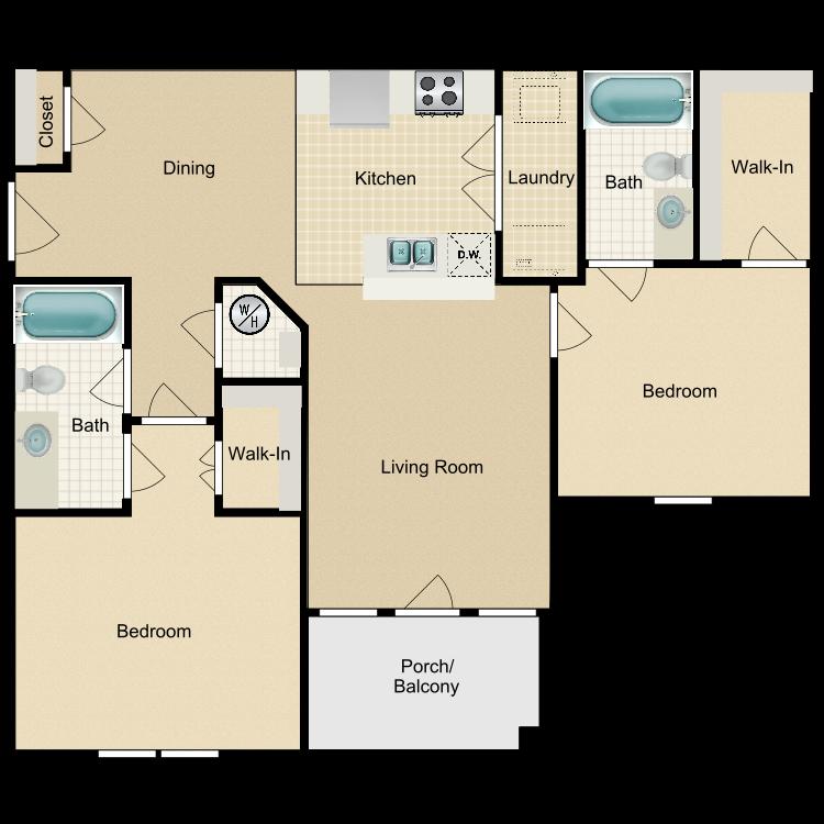 Floor plan image of 2BD