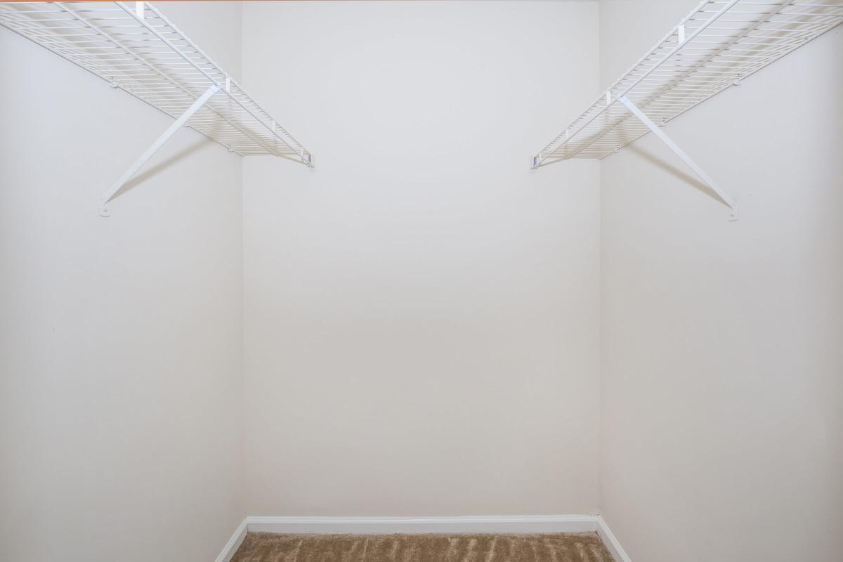 Walk-in closets at Gleneagle in Greenville, SC.