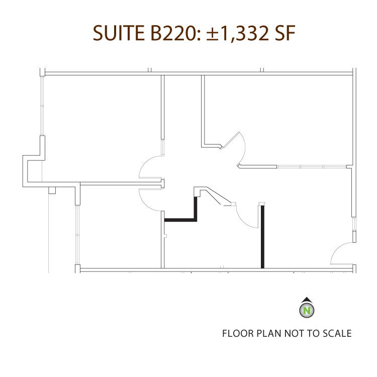 Floor plan image of Suite B-220