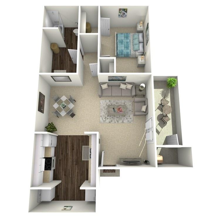 Floor plan image of 1 Bedroom
