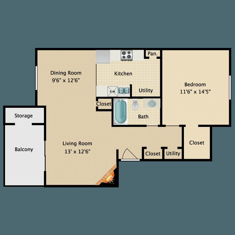 Floor plan image of Metro