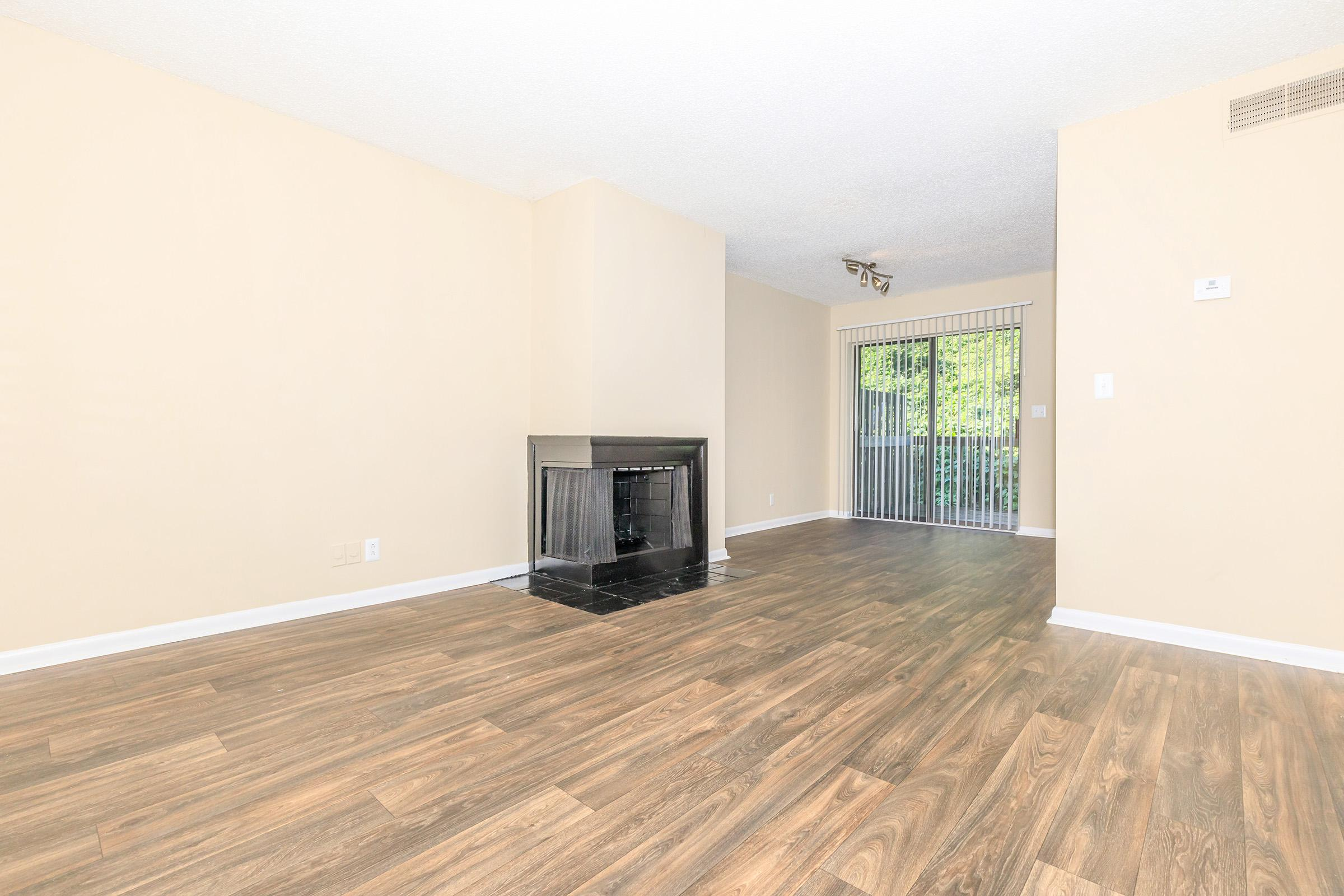 Two bedroom apartment living room at The Henley