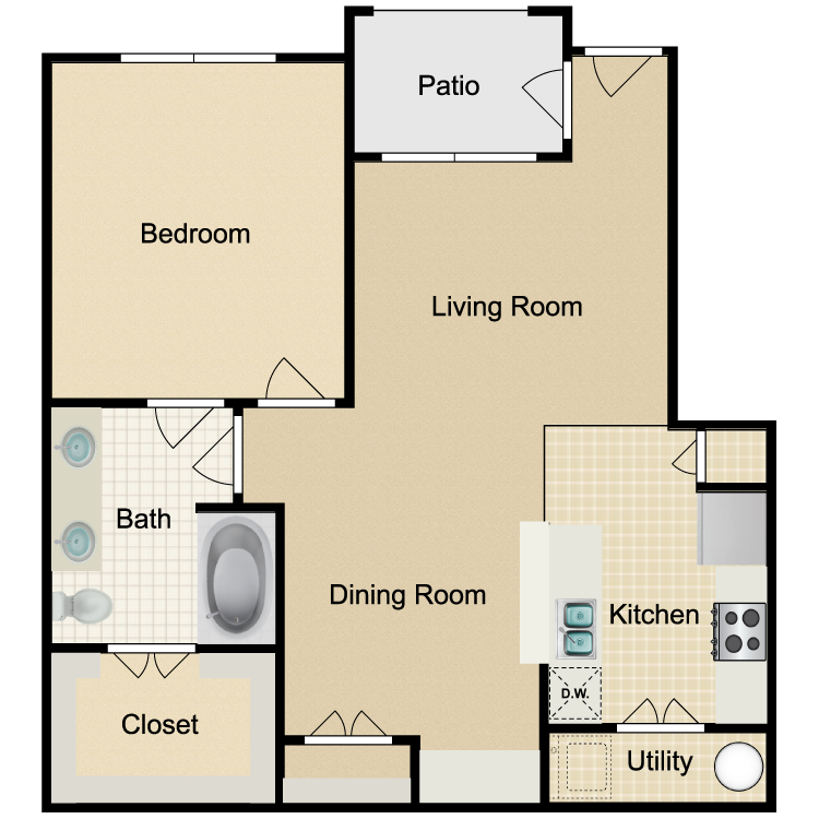 Floor plan image of Unit A 1