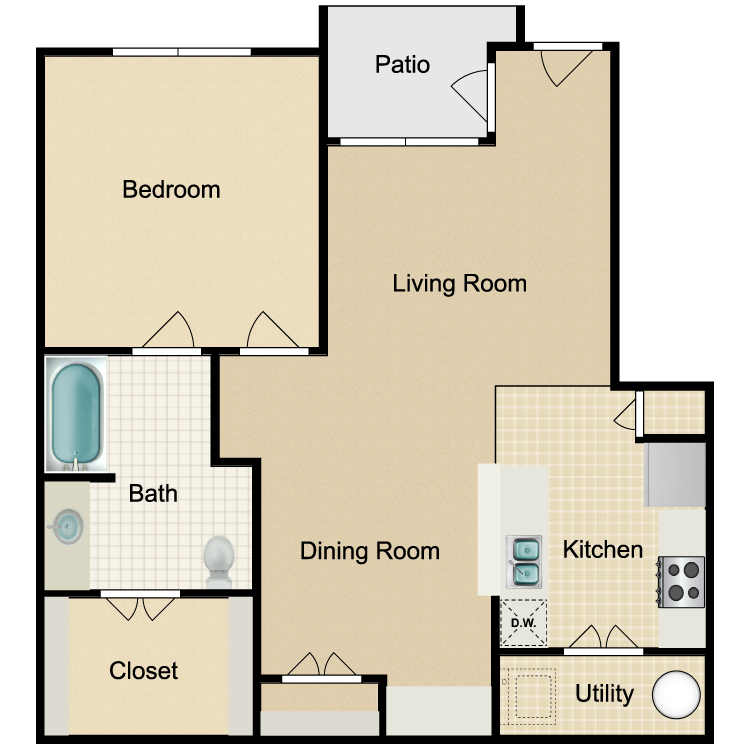 Floor plan image of Unit A 3