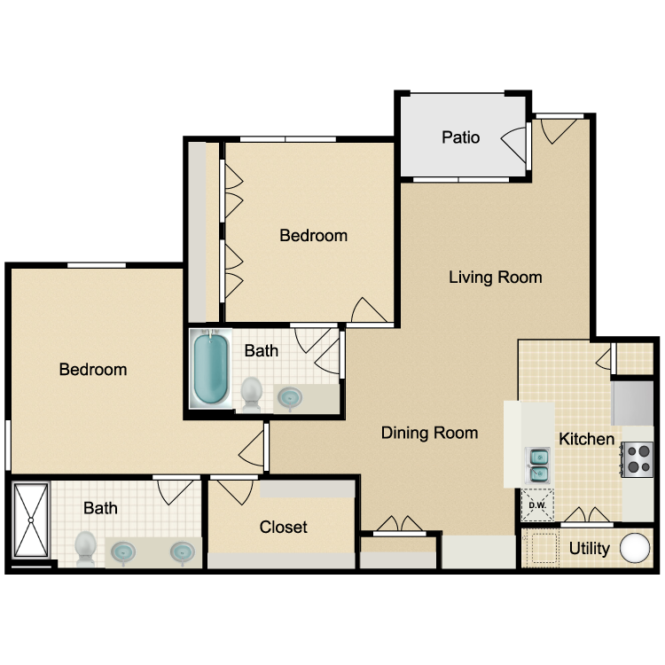 Floor plan image of Unit B 1