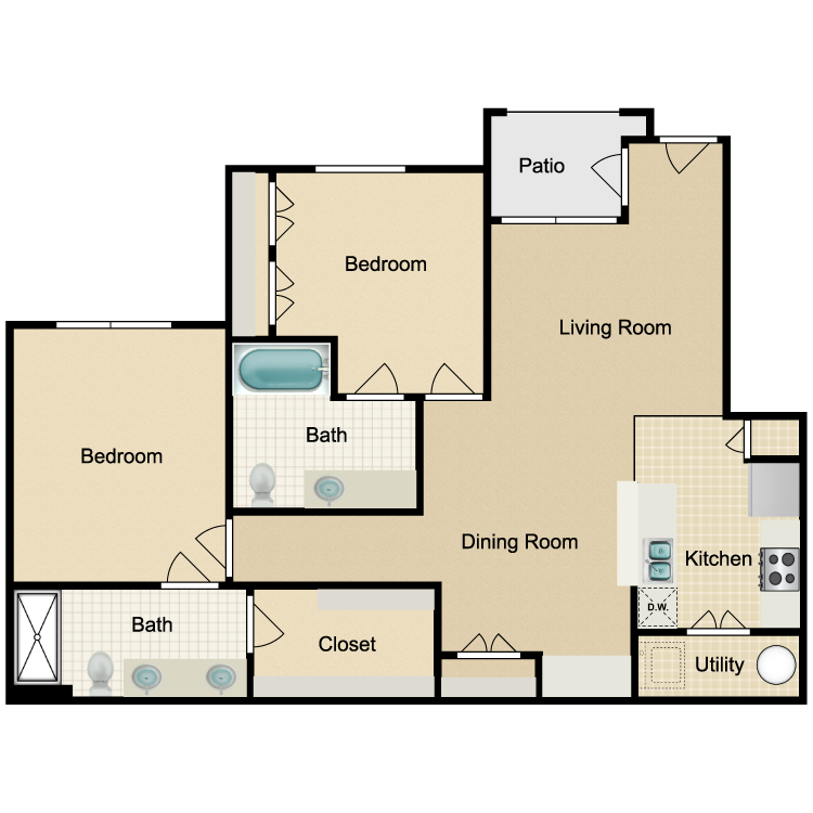 Floor plan image of Unit B 3