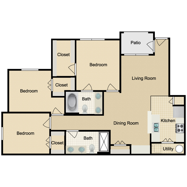 Floor plan image of Unit C 1