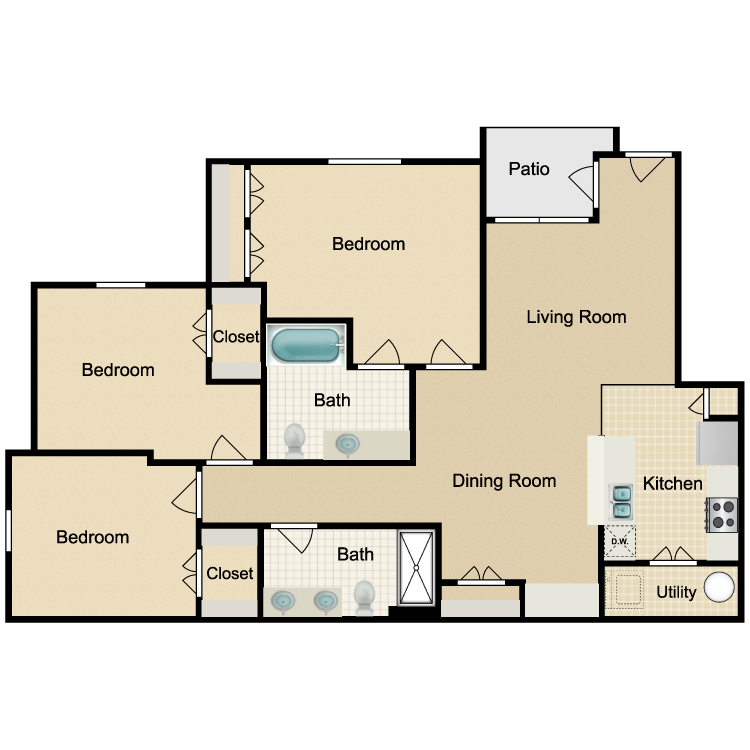 Floor plan image of Unit C 3