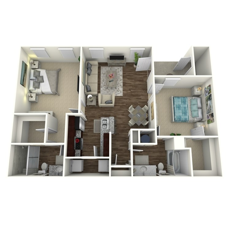 Floor plan image of The Brookstone B3L