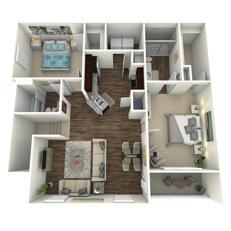 Floor plan image of The Oakwood B1U