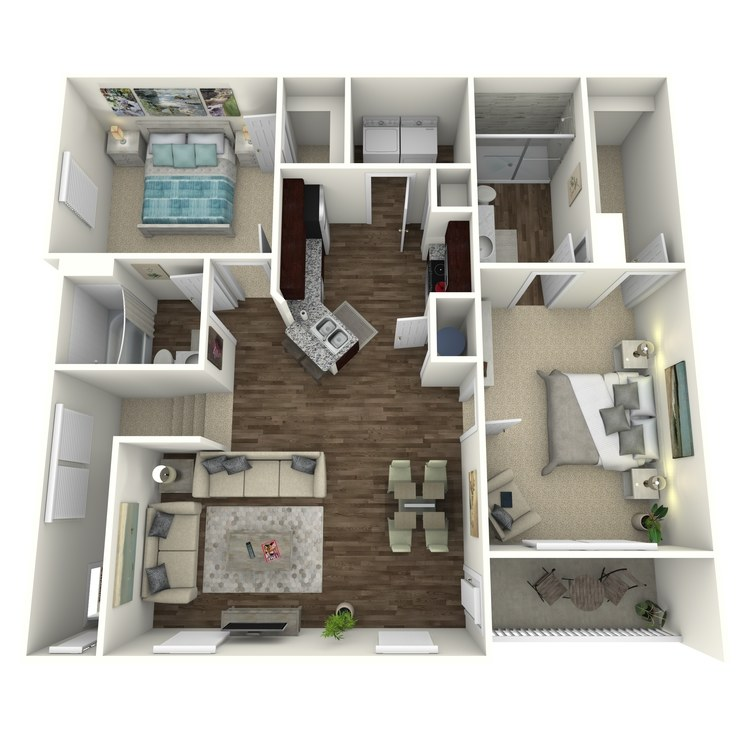 Floor plan image of The Oakwood B1UG
