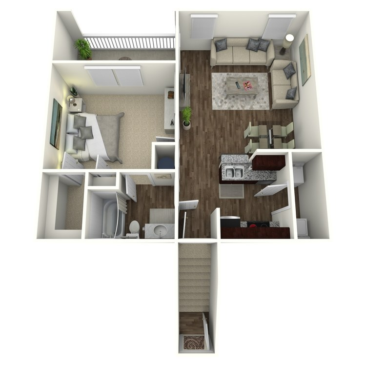 Floor plan image of The Ridgecrest A1UG