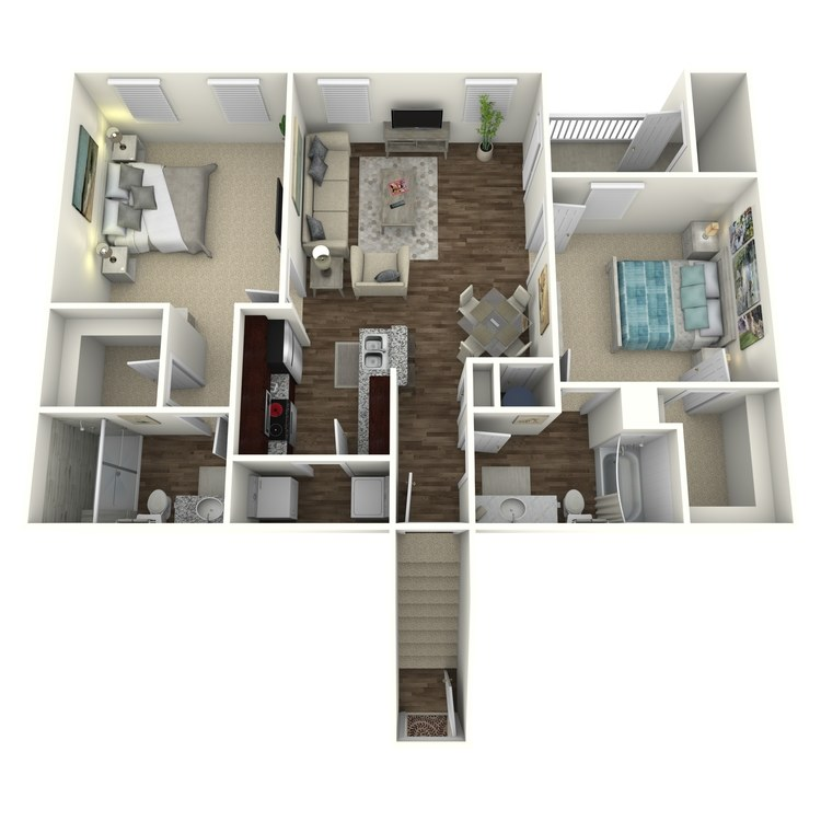 Floor plan image of The Brookstone B3U