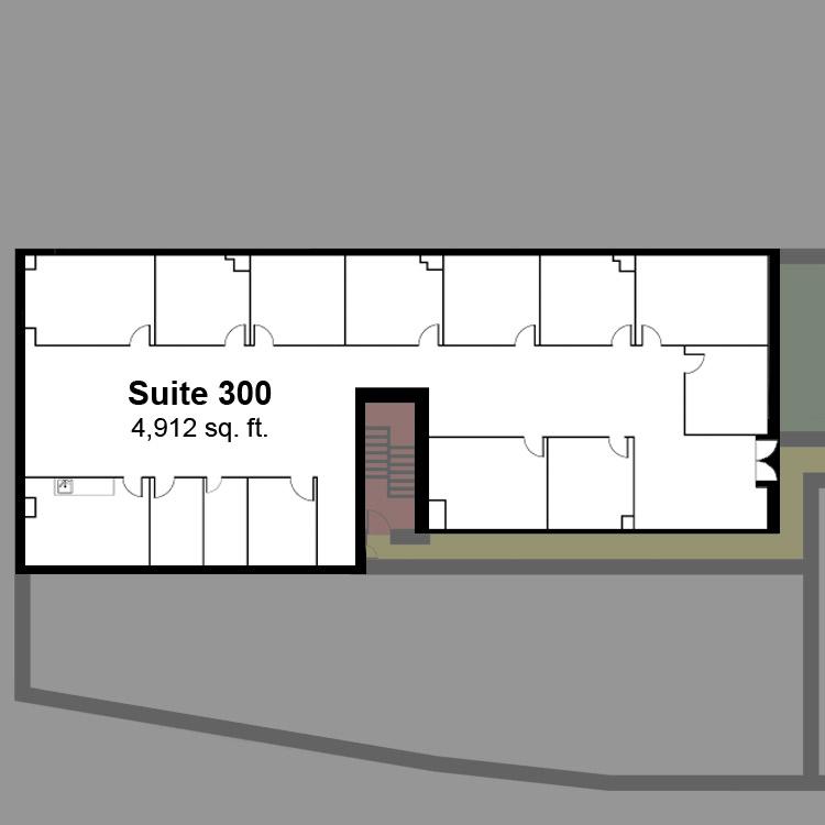 Floor plan image of Suite 300
