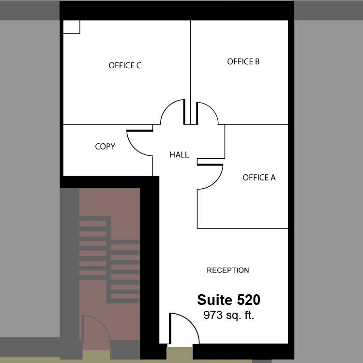 Floor plan image of Suite 520