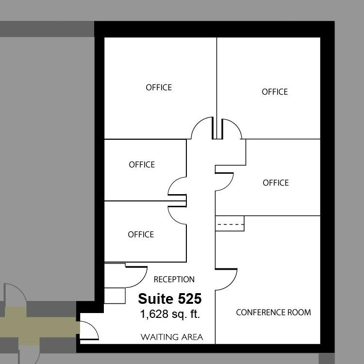 Floor plan image of Suite 525