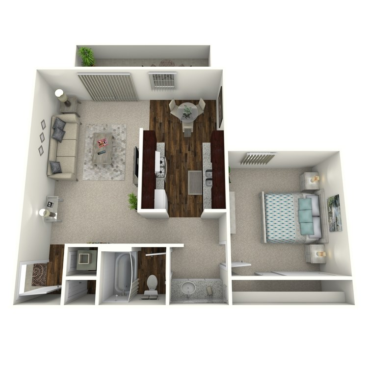 Floor plan image of Timbers- 1 Bed 1 Bath