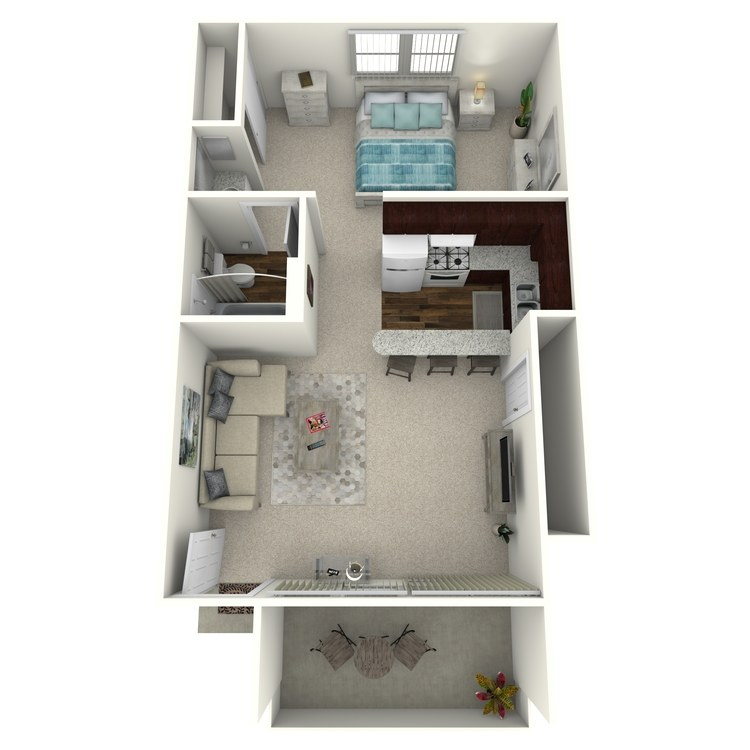 Floor plan image of Woodcrest- Jr. 1 Bed 1 Bath